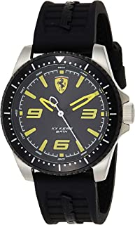 Ferrari Mens Quartz Watch, Analog Display and Silicone Strap 830487