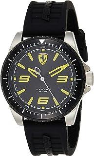 Ferrari Mens Quartz Watch, Analog Display and Silicone Strap 830487