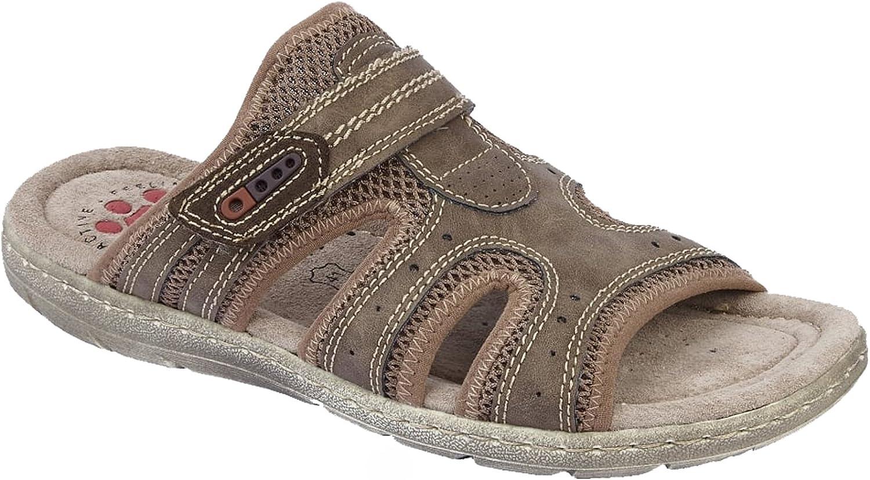 Lotus Relife Men's Ellsworth Brown Mule Sandals 41