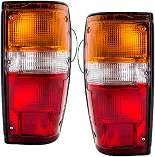 Driver and Passenger Taillights Tail Lamps w/Black Trim Replacement for Toyota SUV Pickup Truck 8156089149 8155089149 AutoAndArt