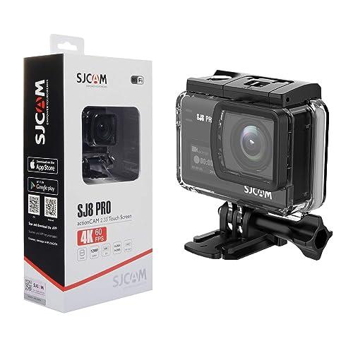 """SJCAM SJ8 Pro Action Caméra 4K 60fps WiFi Sport Mini DV Caméscope Ambarella H22 S85 Sony IMX377 Wi-FI Sports Cam sous-Marine 12MP 30M Étanche Haute-clarté Zoom numérique 2.33""""Dual Touch Screen"""