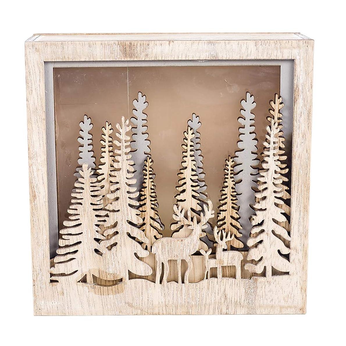 別の苦難ボリュームDOMO クリスマスオーナメント LEDライト付き クリスマス装飾 インスタイル 木製飾り DIY ペンダント 可愛い 家の装飾 子供のおもちゃ ギフト 飾りつけ ハンギングデコレーション 雑貨