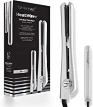 Fahrenheit Heat Wave Collection 1.25 Inch & 0.5 Inch Travel Size Double Trouble Ceramic Flat Iron Set (Silver)