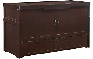 SDS Murphy Cube Queen Cabinet Bed Fully Assembled (Dark Chocolate)