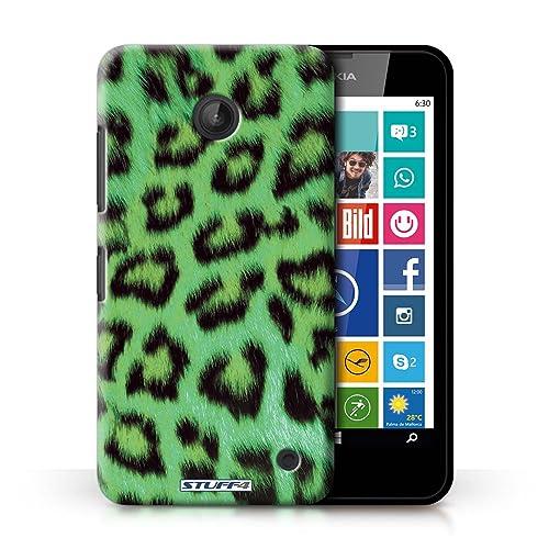 3511483d4e7f STUFF4 Phone Case / Cover for Nokia Lumia 630 / Green Design / Leopard  Animal Skin