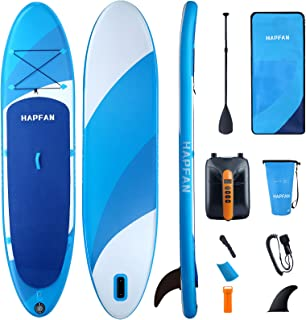 """Hapfan Inflatable Stand Up Paddle Board w/High Pressure Electric Pump 11' x 32"""" x 6"""", All Around Paddle Boards w/Dual-Laye..."""