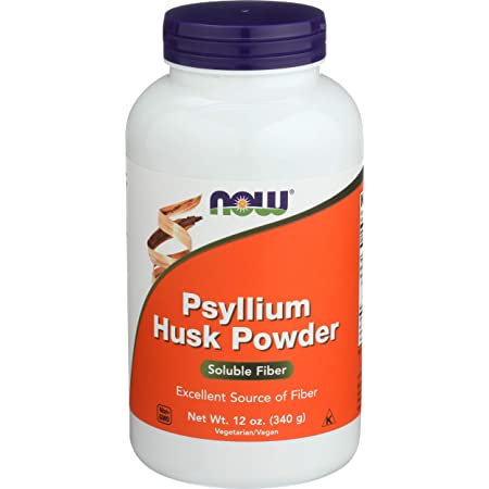 NOW Supplements, Psyllium Husk Powder, Non-GMO Project Verified, Soluble Fiber, 12-Ounce