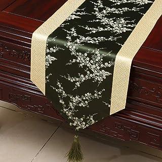 Bordado Moderno Boda Tabla Banner Elegante Estilo Chino Aparador DecoracióN Cena De BodaA33*230CM