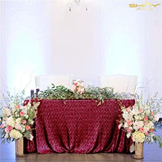 Sequin Tablecloth Burgundy Rectangular 60x102-Inch Sequence Maroon Table Cloths Wine Table Cover/Overlays/Linens - 0227S