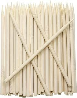 Penta Angel 5.5 inch Thick Bamboo Sticks for Cotton Candy Caramel Apple, Natural Birch Wooden Corn Dog Cob Hotdog Sticks Sausage Meat Skewers for Cheesecake Cakepop Lollipops Fruit, 100Pcs (100 pcs)