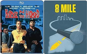 Knockout Double Feature Boys N Da Hood Blu Ray & 8 Mile Steelbook Edition Eminem Bundle Movie Set