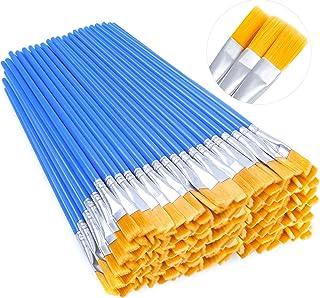 مجموعه قلم مو رنگ آکریلیک anezus ، 100 قطعه برس رنگی آبرنگ کوچک ، برس های نایلونی