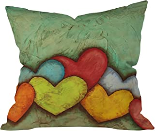 Deny Designs Isa Zapata Chain Of Love Throw Pillow, 16 x 16