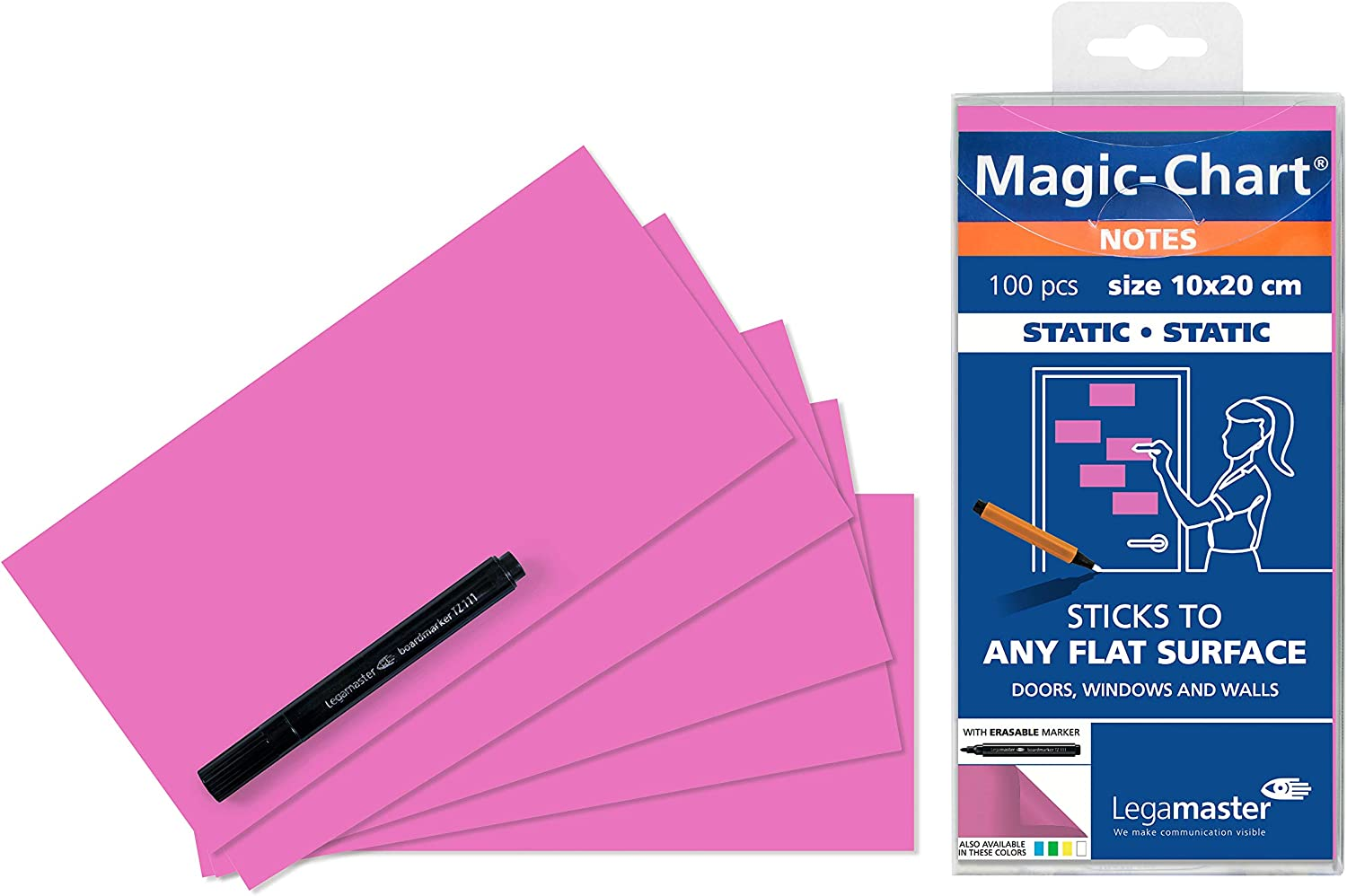 Legamaster 7-159409 Free shipping 10 x 20 cm Notes Max 57% OFF - Pack of Pink Magic-Chart