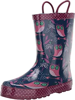 Western Chief Unisex-Child Waterproof Printed Rain Boot with Easy Pull on Handles