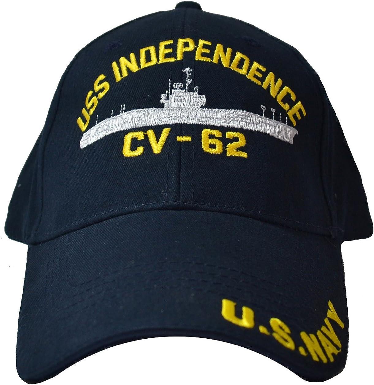 EAGLE CREST USS Independence CV-62 Low Profile Cap Navy Blue