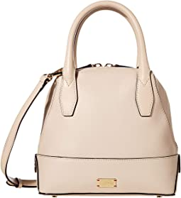 Small Abby Tumbled Leather Dome Satchel