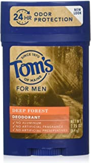Tom's of Maine Men's Long Lasting Wide Stick Deodorant, Deodorant for Men, Natural Deodorant, Deep Forest, 2.25 Ounce, 1-Pack