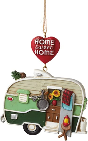 Home Sweet Home Camper Trailer Resin Christmas Ornament