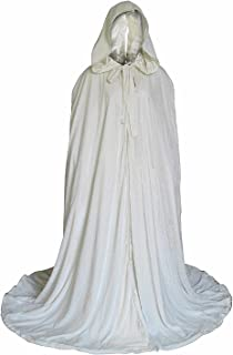 Stylish Floor Length Winter Bridal Wedding Cloak White Cape
