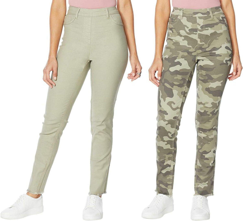 DG2 by Diane Gilman Women's Petite Reversible Twill Skinny Jeans. 728979-Petite