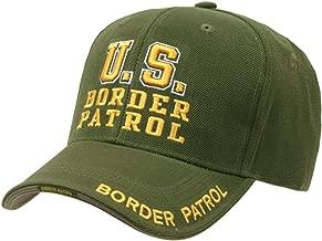 US Border Patrol Officer adjustable baseball cap green & yellow