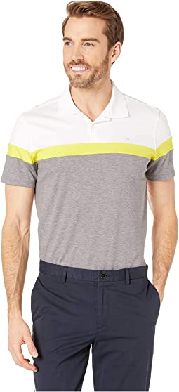 Short Sleeve Color Blocked Button Placket Polo