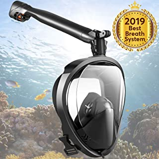 COLOGGO Snorkel Mask Easybreath Full Face The Seaview 180 Degree Snorkeling Mask for GoPro//Free Easy Breath Anti-Leak /& Anti Fog Scuba Diving Mask for Adults Youth Kids L//XL