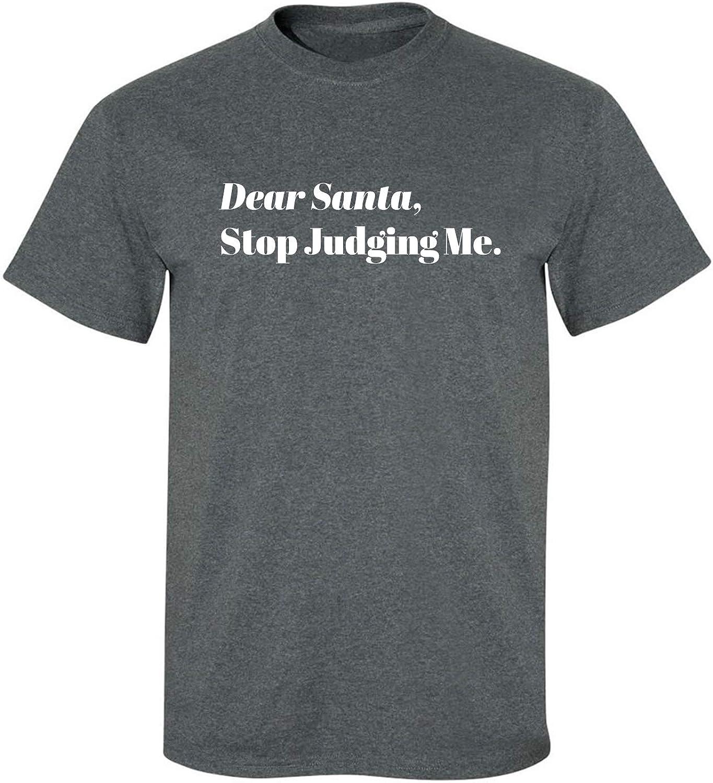 Dear Santa, Stop Judging Me. Adult T-Shirt in Dark Heather - XXX-Large