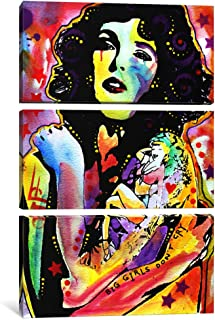 """iCanvasART 3 Piece Big Girls Don'T Cry Canvas Print by Dean Russo, 60 by 40""""/1.5"""" Deep"""