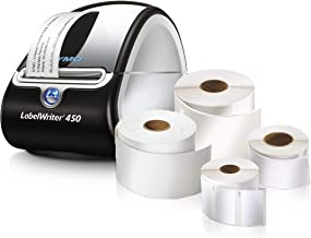 DYMO LabelWriter 450 Super Bundle - Free Label Printer with 4 Rolls of Shipping, File Folder and Multi-Purpose Labels (1957331)