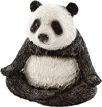 Top Collection Miniature Fairy Garden and Terrarium Cute Yoga Panda-Meditation Lotus Pose Figurine