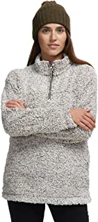 Frosty Tipped Pile Stadium Pullover - Women's Brown, L