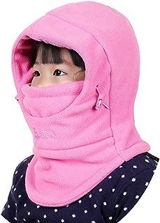 Kids Children's Balaclava Hat Fleece Ski Face Mask Winter Cap Adjustable Double Neck Warmer