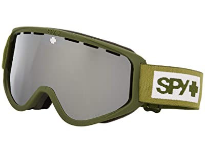 Spy Optic Woot (Colorblock Olive Hd Bronze w/ Siliver Mirror + Hd Ll Persimmon) Goggles