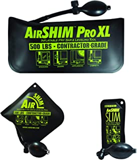 Calculated Industries 1134 AirShim Inflatable Pry Bars and Leveling Tools 3-pc Value Pack – Original AirShim, AirShim Pro ...