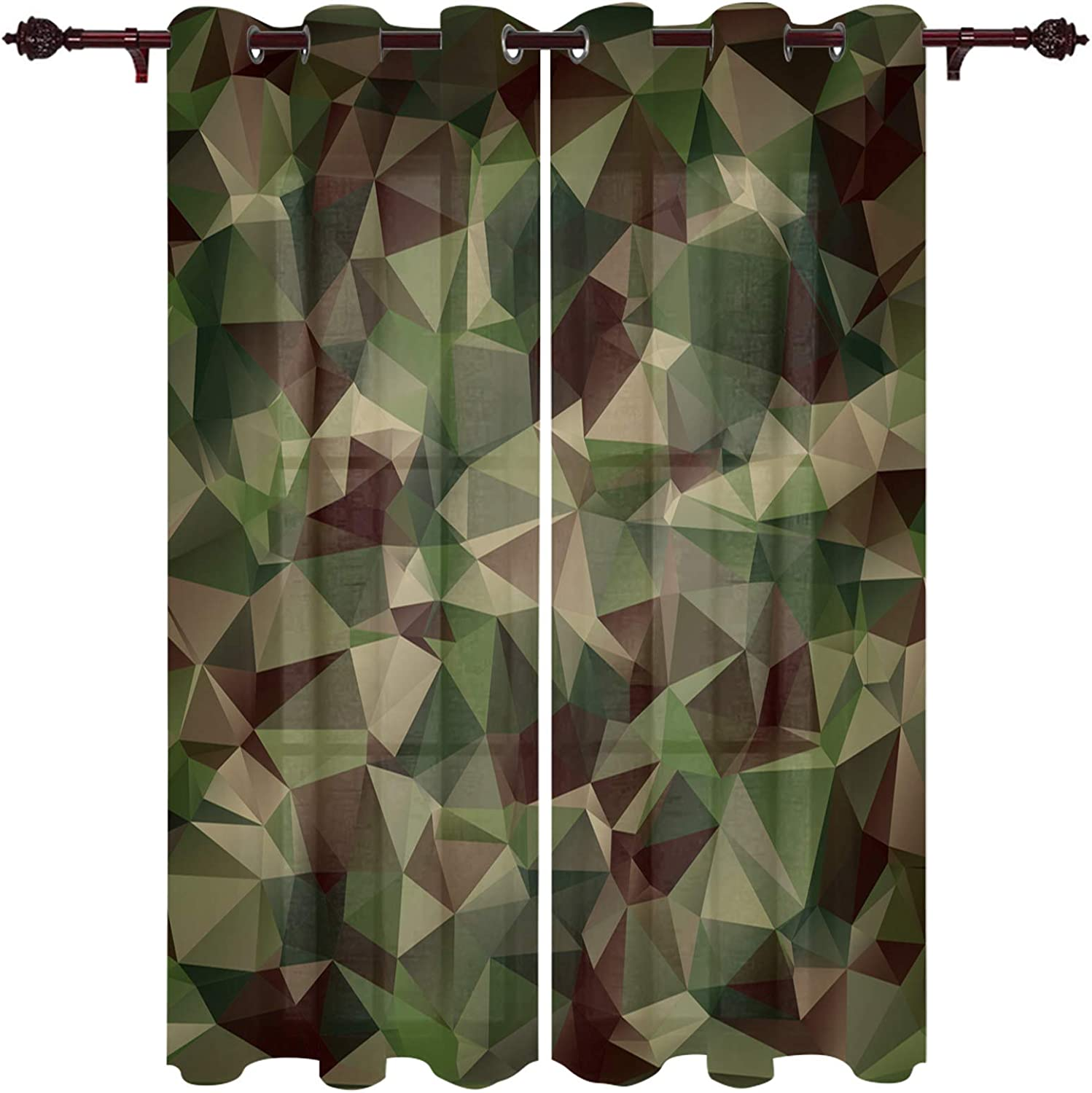LOVE HOME DAY 2 Panels Cash special price Window Geometric Curtain Fo Max 59% OFF Set Treatment