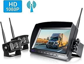 ZEROXCLUB Wireless Rear View Camera Kit,1080P FHD Car Backup Camera IP69 Waterproof Night Vision Reverse Camera Monitor for Van RV Truck Trailer(SW02)