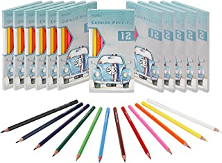 Madisi Colored Pencils Bulk - Pre-Sharpened - 12 Packs of 12-Count - 144 Colored Pencils for Kids