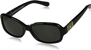 نظارة بيضاوية مستقطبة شايان/p/s للنساء من كايت سبيد، سوداء، 55 ملم