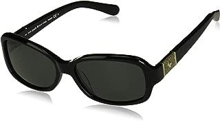 Kính mắt nữ cao cấp – Kate Spade Women's Cheyenne/p/s Polarized Oval Sunglasses, BLACK, 55 mm