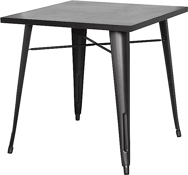 New Pacific Direct 9300019 GM Metropolis Metal Dining Table Gunmetal