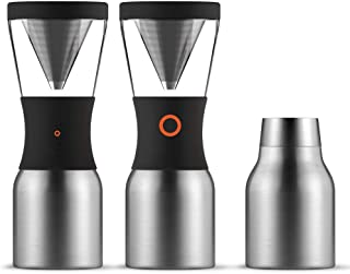 Asobu Coldbrew Portable Cold Brew Coffee Maker with a Vacuum Insulated 40oz Stainless Steel 18/8