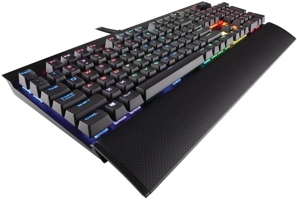 CORSAIR K70 RGB RAPIDFIRE Mechanical Gaming Keyboard - USB Passthrough & Media Controls - Fastest & Linear - Cherry MX Speed - RGB LED Backlit