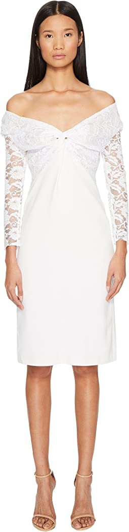 Francesco Scognamiglio - Off the Shoulder Long Sleeve Lace Dress
