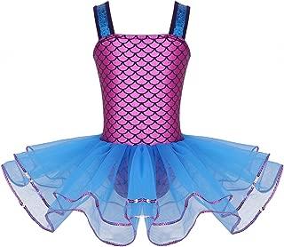 MSemis Girls' Sequins Camisole Ballet Dancing Dress Tutu Skirted Leotard Ballerina Dance Wear Costumes