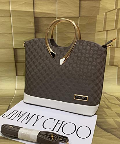 Jimmy Choo Women Hand Bag Class Color With Good Pattern Sling Grey