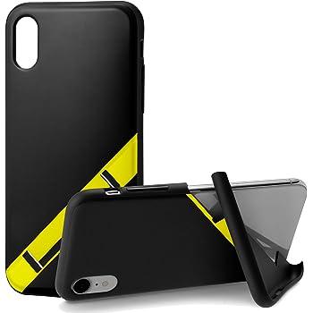 カンピーノ campino スマホケース iPhone XRケース スポーツ OLE stand スタンド機能 耐衝撃 スリム 薄型 ブラックイエロー 黒