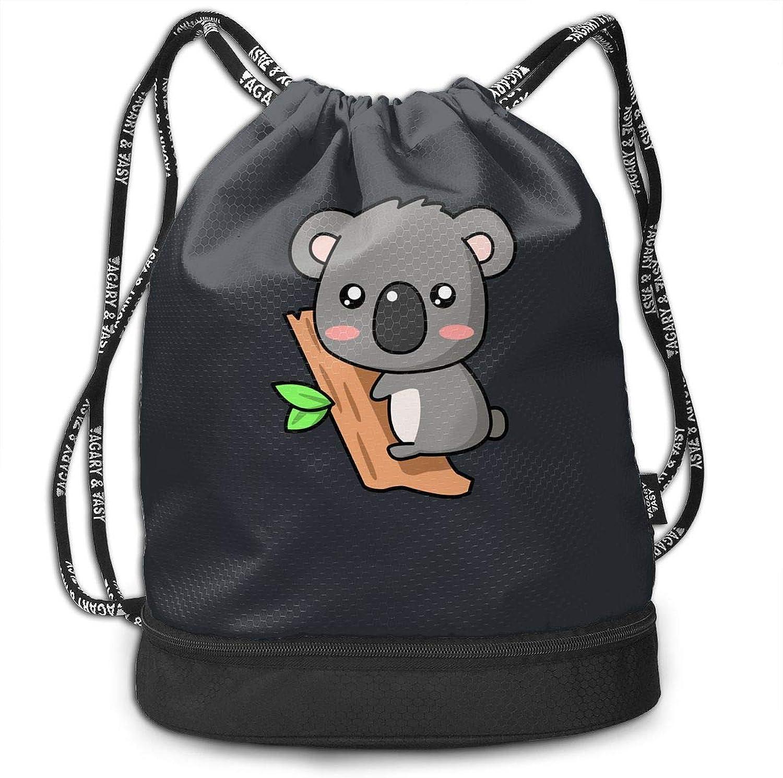 Gugaa Little Christmas Koala Sport Gym Sack Drawstring Bag Outdoor Shopping Satchel Rucksack Drawstring Backpack Daypack