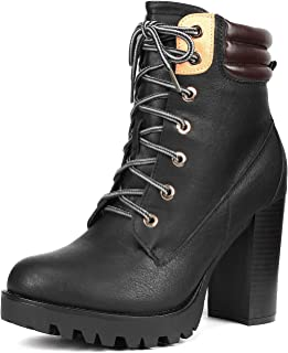 Women's Fashion Ankle Boots - Chunky High Heel Booties